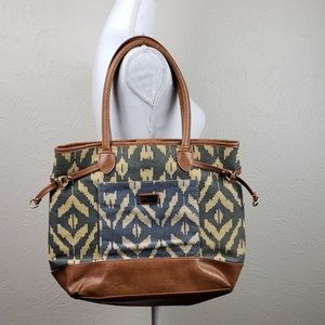 Tommy Hilfiger Ikat Canvas Tote
